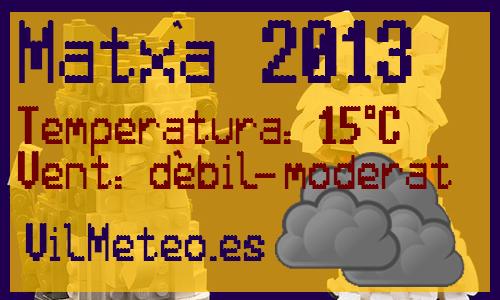 Pronòstic Matxà 2013