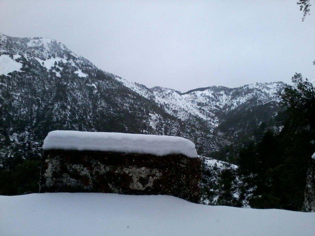 El paisatge era més propi de l'alta muntanya que de la Nevada Serra d'Espadà.